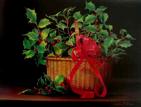 Nantucket Basket of Holly